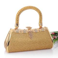 กระเป๋าคลัชออกงาน กระเป๋าถือผู้หญิงแฟชั่นเกาหลีหรูหราเข้าชุดราตรีและงานแต่ง นำเข้า เนื้อทรายดุมเพชร สีทอง AP2547 - พร้อมส่ง ราคา1500฿ กระเป๋าถือแฟชั่น สำหรับผู้หญิงที่ต้องสวยครบเซทสีทองอร่ามแบบกระเป๋าแบรนด์ดังต้องกระเป๋าออกงานราตรีสไตล์คลัทช์และกระเป๋าไปง
