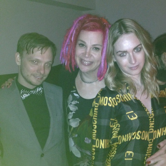 JUPITER ASCENDING party with Lana Wachowski and @msjamieclayton.