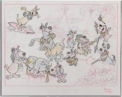 Scooby-Doo and Friends Publicity Cel (Hanna-Barbera, 1980s) (Space Mutt) Tags: cartoon astro animation scoobydoo snuffles thejetsons muttley dumdum huckleberryhound scrappydoo hannabarbera quickdrawmcgraw augiedoggie doggiedaddy genehazelton toucheturtleanddumdum