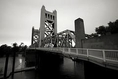 Sony TT 810 Tower Bridge Sunset (reed.john51) Tags: california bridge sunset blackandwhite monochrome architecture towerbridge artdeco sacramento tokina17mmf35atxpro sonya7ii