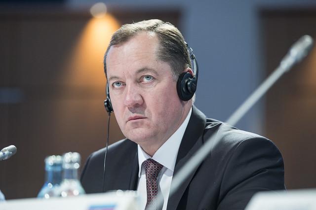 Aliaksandr Shyshko at Closed Ministerial Session