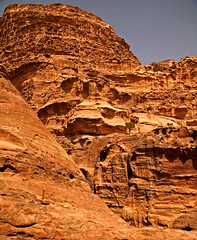 Path to the Monastery 12 (David OMalley) Tags: world city heritage rose rock stone site desert path petra siq carving unesco east jordan monastery arab middle carvings jordanian monumental jebel nabatean nabateans hewn maan almadhbah