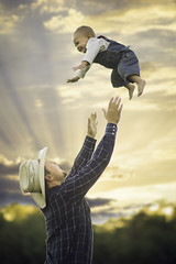 AGAIN! (Phillip Haumesser Photography) Tags: family sunset summer playing love smiling laughing fun play father son together trust