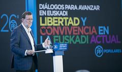 Mariano Rajoy durante su intervencin (Partido Popular) Tags: libertad durango rajoy eta pp pasvasco