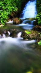 Waterfall (opshorton) Tags: longexposure water rock canon waterfall leaf kent tripod smooth 7d manfrotto hothfield canon7d bigstopper