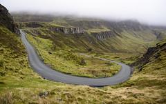 Quiraing (Joe Dunckley) Tags: road uk cloud mountain skye rain landscape scotland highlands isleofskye bend lane landslide zigzag hairpin hebrides switchback landform trotternish landslip lowcloud quiraing scottishhighlands