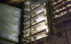Inside The Grain (Brian Rome Photography) Tags: travel shadow usa abandoned buffalo grain silo explore urbanexploration newyorkstate discovery deserted grates grainsilo urbex amaerica silocity