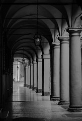 My path (Italo do Valle) Tags: city travel italy architecture canon blackwhite arches poetic bologna portici soulful