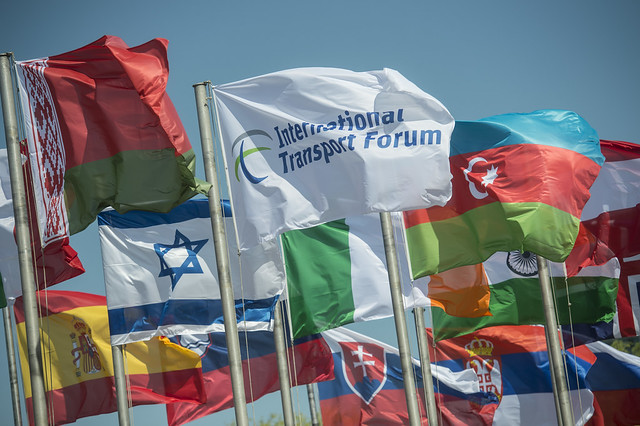 The ITF and member country flags