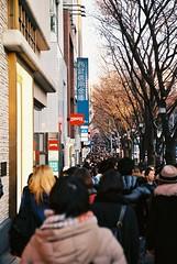 Crowds at Harajuku, Tokyo (Phakorn) Tags: crowd japan jp tokyo harajuku film ektar people city