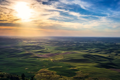 Grow Green (West Leigh) Tags: travel sunset sky green clouds landscape washington dream harvest grow peaceful wanderlust hills explore experience pacificnorthwest tranquil wander discover palouse travelphotography canoneos6d