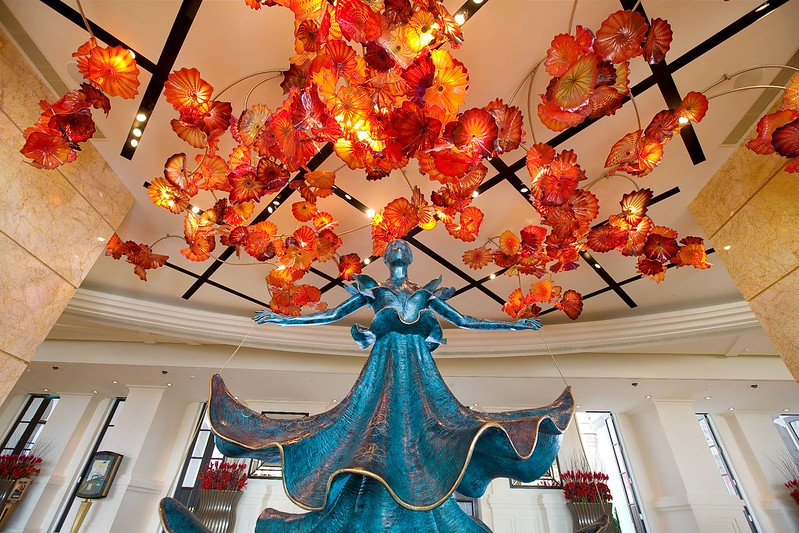 Fiori di Paradiso Ceiling by Dale Chihuly & Dalinian Dancer