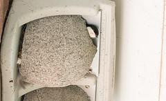 House Martin (The Rustic Frog) Tags: camera uk wild england house bird nature wall digital canon lens concrete eos martin nest box mark artificial ii breeding 7d martins warwickshire midlands housemartin 100400 upvc