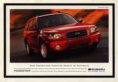 Subaru Forester, new generation; 2003  (Australia) (World Travel Library) Tags: world auto 2003 new travel red cars car japan ads photography japanese lights drive photo moving model automobile gallery image photos library wheels transport galeria picture australia automotive center literature collection papers subaru online vehicle motor makes collectible collectors sales brochures catalogue  catlogo generation automobiles documents fahrzeug collezione forester frontcover coleccin motoring wagen folleto automobil  sammlung folheto prospekt dokument katalog  esite assortimento recueil worldcars broschyr  worldtravellib