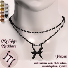 !IT! - My Sign Necklace - Pisces Image (IT! (Indulge Temptation!)) Tags: it event secondlife exclusive atb addictedtoblack indulgetemptation itindulgetemptation