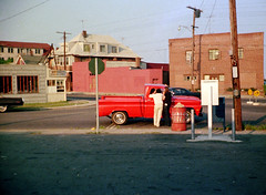 Late afternoon sunlight colors across the street from the beach on Merwin Avenue where it meets Seabreeze Avenue. Three guys chat by a red 1969 Chevy pickup truck with whitewall tires. Tail end of a 1960s Cadillac at left. Milford Connecticut.  Aug 1974 (wavz13) Tags: analog vintagecar phonebooth grain teenagers teens oldbuildings oldphotographs grainy 1970s oldcar oldphotos oldcars oldhouses vintagecars kodacolor instamatic vintagephotos phonebooths oldphotography vintagephotographs vintagetrucks oldtrucks 110film historicphotos historicphotography connecticutshoreline vintagehouses vintagephotography historicphotographs vintageteens vintageteenagers 1970sphotos pocketinstamatic vintagebuildings connecticutphotography oldpickuptrucks connecticutphotos 1970sphotographs vintagepickuptrucks vintageconnecticut 1970sphotography oldconnecticut oldmilford oldsummers connecticutphotographs oldconnecticutphotography oldconnecticutphotos lifeinthe1970s vintagewoodmont oldwoodmont vintagemilford 1970swoodmont 1970smilford vintagesummers