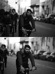 [La Mia Citt][Pedala] (Urca) Tags: portrait blackandwhite bw bike bicycle italia milano bn ciclista biancoenero bicicletta 2016 pedalare dittico ritrattostradale 85577 nikondigitalemir