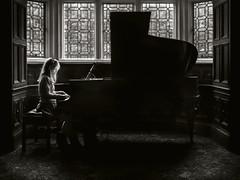 >>> The Pianist <<< (Harjodik) Tags: lighting portrait girl photoshop children mono hall child cheshire piano olympus crew environment split rim pianist retouch tone em1 m43 mirrorless microfourthirds
