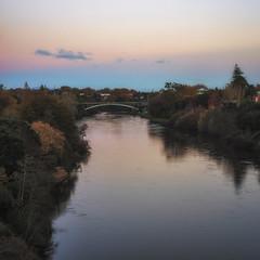 Waikato River Hamilton (IainInJapan) Tags: new autumn sunset newzealand fall river landscape 50mm nikon sony 14 hamilton zealand nz waikato nikkor a7r