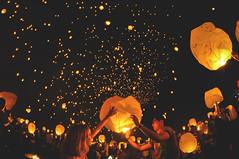 Stars Close to Home (_jonchinn) Tags: light sky people love philadelphia beautiful festival night stars fire glow candle pennsylvania go crowd it pa event romantic lantern lit fest let breathtaking tangled mohnton