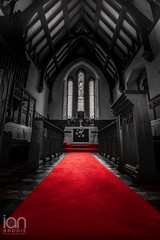 Red (ianbrodie1) Tags: gilsland northumberland church roof red carpet prayer pray jesus cross old building stained glass window organ pew magdalene st mary