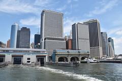 Picture Taken From The Staten Island Ferry Showing The Staten Island Ferry Terminal And the Lower Manhattan Skyline. Photo Taken Monday June 27, 2016 (ses7) Tags: ferry skyline island manhattan staten viewlower