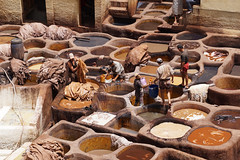Fes Morocco-Medina-Tanneries.2-2016 (Julia Kostecka) Tags: morocco medina fes tannery feselbali