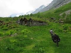 Biking in the green valley. (Mrs.Snowman) Tags: norway valley biking sunnmøre dairyfarm norangsdalen