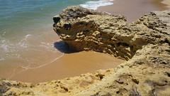 Rocky Structures at the Beach (esseffdeearr) Tags: portugal algarve olhos dagua riu guarana praia da falesia albufeira portimao vacation