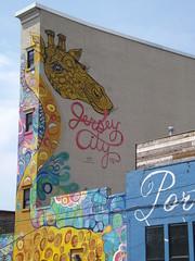 Colorful Mural, Jersey City, New Jersey (lensepix) Tags: newjersey mural jerseycity colorfulmural jerseycityart jerseycitymural