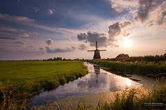 De Kathammer (pieter.struiksma) Tags: sky sun mill water netherlands dutch clouds reflections volendam kathammer