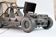 Off-Road (nosrellew) Tags: road brazil brasil brinquedo off carro terra rc martelo pneu carrinho fundo prata cenario exercito prateado