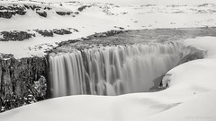 Fractal seed of resonance (OR_U) Tags: longexposure blackandwhite bw snow ice river blackwhite waterfall iceland widescreen le oru schwarzweiss 169 dettifoss 2016 jkulsfjllumriver