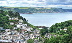 Looe and Looe Bay, Cornwall (Explored) (Baz Richardson (now away until 30 July)) Tags: coast landscapes cornwall cliffs looe explored downderry eastlooe looebay cornishtowns