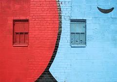 . (SA_Steve) Tags: nyc blue windows red ny newyork black wall brooklyn bushwick