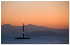 Sunset Naxos Island, Greece (David MONSU Photography) Tags: sunset mer boat paros cyclades naxos egeansea sunsetgreece cycladesisland
