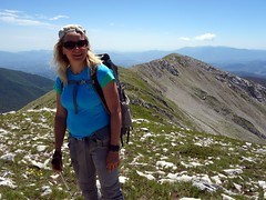 Edita on the way to Monte Fragara (markhorrell) Tags: walking lazio apennines montiernici