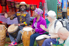 Joy of Teaching (cathbooton) Tags: june festival liverpool drums workshop drumming fathersday canoneos seftonpark merseyside 50mmeff18 canonusers africaoye