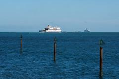 Portsmouth Cross Channel Ferr E6240440_06 (tony.rummery) Tags: sea england ferry unitedkingdom olympus solent gb portsmouth poles southcoast southsea omd booms em10 mft microfourthirds