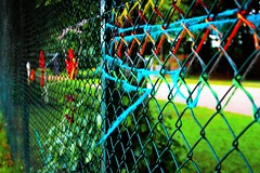 Colors (Perfect Day_) Tags: park street city summer art colors fence yarn fabric canoneos600d