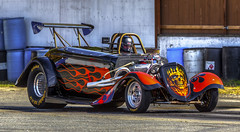 Altered Roadster (Paul Rioux) Tags: colors sport racecar altered drag outdoor flames competition racing chrome customized modified dragracing gearhead motorsport roadster westshore westernspeedway prioux