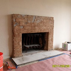 nicoles fireplace before (terry@drywallexcellence) Tags: texture drywall fireplace arch makeover projects remodel recent oldworld italianplaster venetianplaster