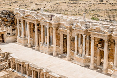 Ancient Amphitheater, Hierapolis (Eugine Li) Tags: turkey ancient theatre amphitheater pamukkale hierapolis