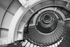 Ponce de Leon inlet lighthouse (jecht360) Tags: light blackandwhite lighthouse house beach stairs spiral blackwhite inlet daytona
