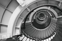 Ponce de Leon inlet lighthouse (jecht360) Tags: light blackandwhite lighthouse house beach stairs spiral blackwhite inlet daytona