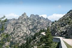 Corse (y.becart) Tags: road travel sky mountain lines montagne de vacances corse corsica route ciel le mont marche lignes aiguilles bavella auguille montagneux