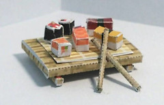 Minecraft Style Sushi Board Free Papercraft Download (PapercraftSquare) Tags: sushi minecraft
