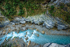 Taiwan-121116-478 (Kelly Cheng) Tags: travel blue color colour green tourism nature water horizontal landscape daylight colorful asia stream day outdoor taiwan nobody nopeople gorge colourful tarokonationalpark tarokogorge  traveldestinations  northeastasia