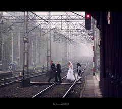 paths (JoannaRB2009) Tags: city wedding people urban rain groom bride spring path may photographers poland polska explore rainy trainstation rails railroadstation explored piotrkwtrybunalski