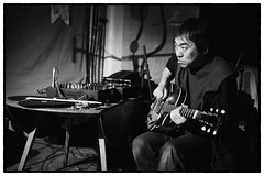 Otomo Yoshihide/Roger Turner/Guillaume Viltard/Alex Ward @ Cafe Oto, London, 11th May 2013 (fabiolug) Tags: leica blackandwhite bw music london monochrome 35mm drums blackwhite concert experimental bass guitar live voigtlander gig livemusic performance rangefinder turntable improv monochrom improvised clarinet biancoenero dalston doublebass otomo londonist alexward leicam otomoyoshihide rogerturner guillaumeviltard voigtlandernokton35mmf14 voigtlandernoktonclassic35mmf14 cafeoto silverefexpro voigtlander35mmf14 silverefexpro2 mmonochrom leicammonochrom leicamonochrom